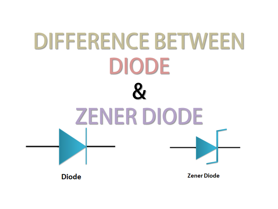 Difference between diode and zener diode