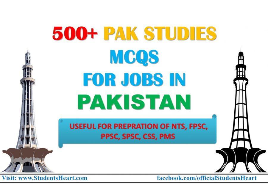 Pak Studies MCQs