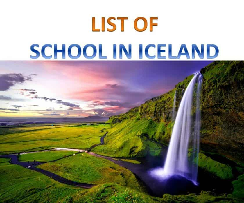 list of schools in iceland